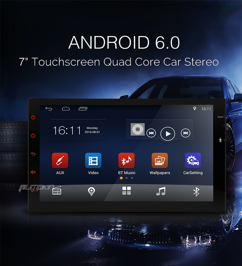 android 6 0 double din car stereo radio gps navigation
