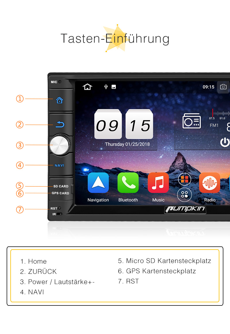 kamera 4gb 32gb android 8 0 8 core autoradio 7 doppel. Black Bedroom Furniture Sets. Home Design Ideas