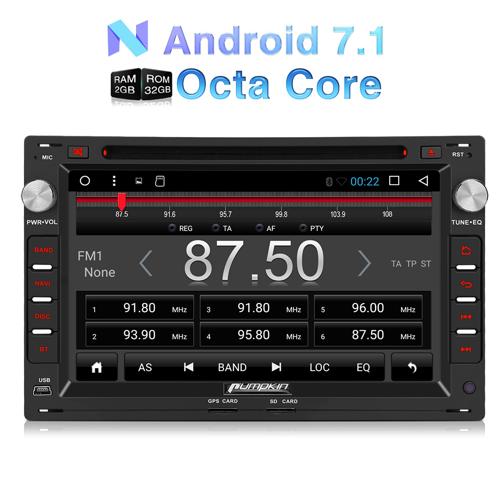 8core 2gb 7 gps navi autoradio android 7 1 dvd player dab. Black Bedroom Furniture Sets. Home Design Ideas