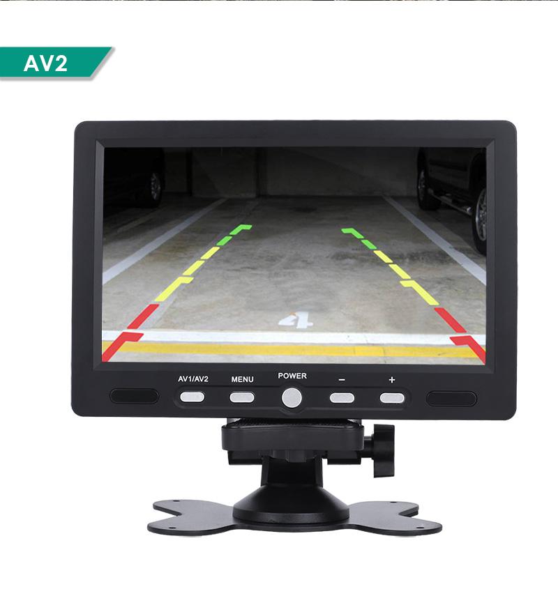 7 39 39 auto lcd monitor bildschirm display 2 eingang mit ir kamera r ckfahrkamera ebay. Black Bedroom Furniture Sets. Home Design Ideas