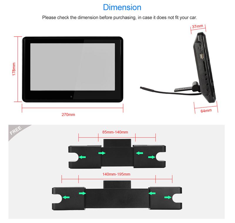 casque 2 cran tactile 10 1 appuie t te ecran voiture lecteur dvd 1080p usb sd ebay. Black Bedroom Furniture Sets. Home Design Ideas