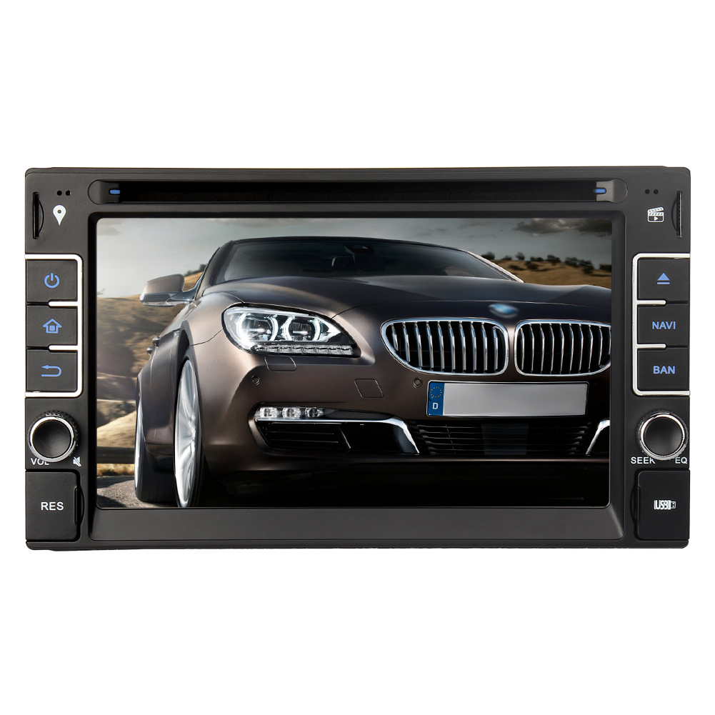 6 2 double din car dvd cd player radio stereo touchscreen. Black Bedroom Furniture Sets. Home Design Ideas