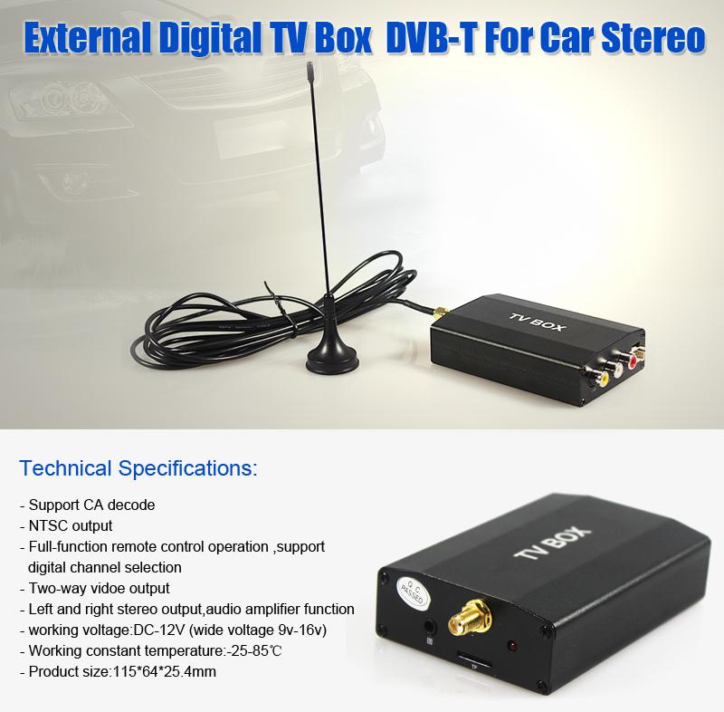 external auto dvb t tv box digital empf nger tuner f r. Black Bedroom Furniture Sets. Home Design Ideas