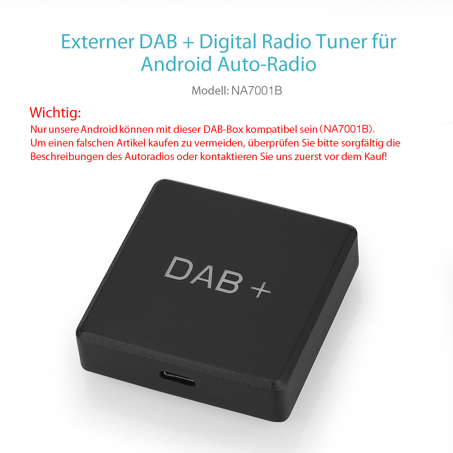 Digital Externe DAB+ Box(Y0251)für Pumpkin Autoradio Android DVD ...